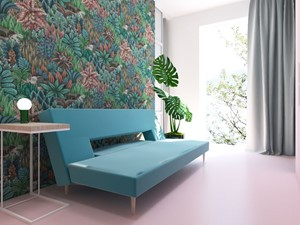 Mieszkanie 100m2 - Średnia garderoba z oknem oddzielne pomieszczenie, styl nowoczesny - zdjęcie od A+A