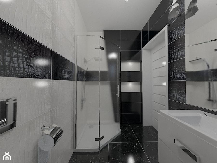 łazienka W Stylu Glamour Czarno Biała Zdjęcie Od Katarzyna