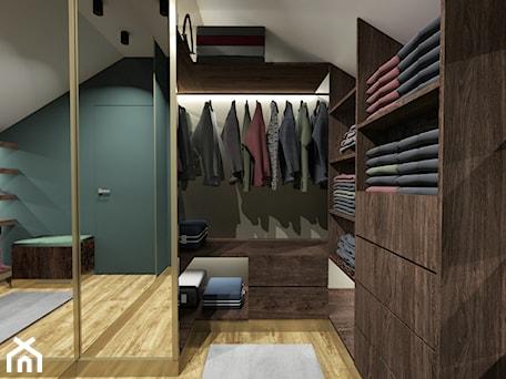 Aranżacje wnętrz - Garderoba: mieszkanie ze szlachetną zielenią - Garderoba, styl nowojorski - Katarzyna Wnęk. Przeglądaj, dodawaj i zapisuj najlepsze zdjęcia, pomysły i inspiracje designerskie. W bazie mamy już prawie milion fotografii!