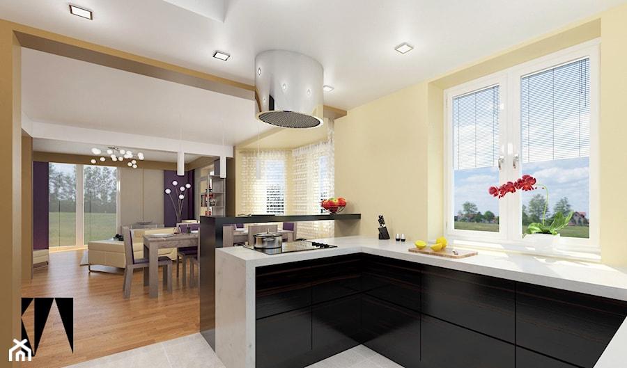 salon z kuchni� 2 kuchnia styl nowoczesny zdjęcie od