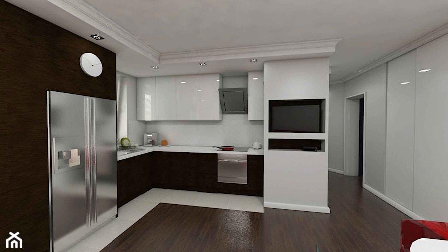 Kuchnia otwarta na salon  zdjęcie od Katarzyna Wnęk -> Kuchnia Z Oknem Otwarta Na Salon