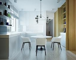 dom prywatny - Średnia otwarta biała kuchnia w kształcie litery l z oknem, styl skandynawski - zdjęcie od JOTKA PROJEKT