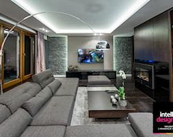 """Apartament - projekt wnętrz """"pod klucz"""" - Średni salon, styl nowoczesny - zdjęcie od Intellio designers projekty wnętrz"""