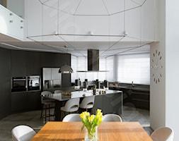 Dom na Podhalu - Średnia otwarta biała jadalnia jako osobne pomieszczenie, styl nowoczesny - zdjęcie od Intellio designers projekty wnętrz - Homebook