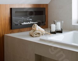 Dom na Podhalu - Mała szara łazienka na poddaszu w domu jednorodzinnym z oknem, styl nowoczesny - zdjęcie od Intellio designers projekty wnętrz - Homebook