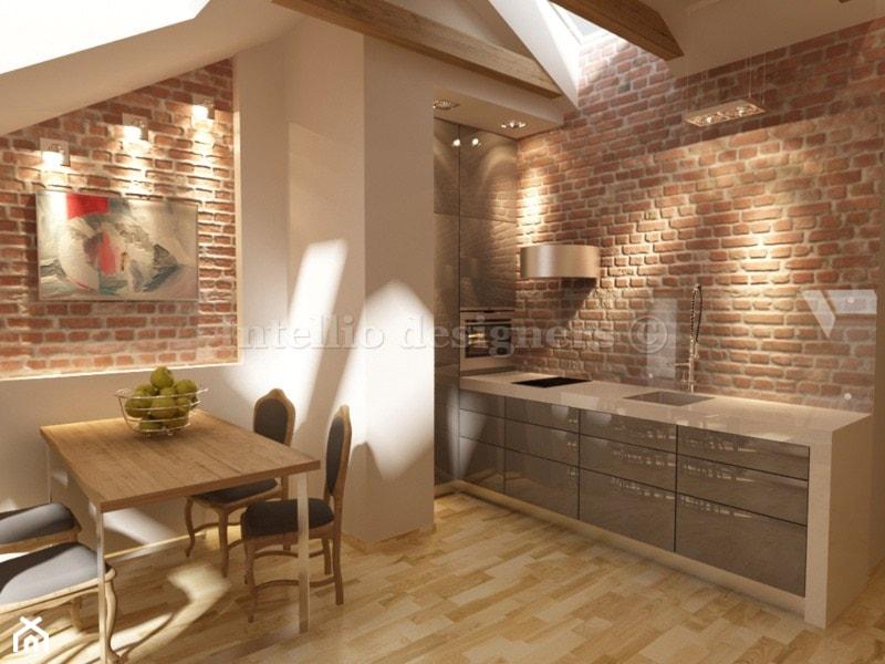 Kuchnia na poddaszu  zdjęcie od Intellio designers   -> Kuchnie Na Poddaszu Aranzacje