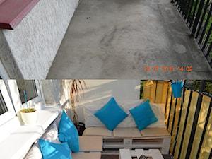 Metamorfoza balkonu - Mały taras z tyłu domu - zdjęcie od czajkaan