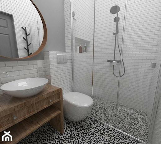 Drugie życie Starego Domu Mała Biała łazienka Na Poddaszu