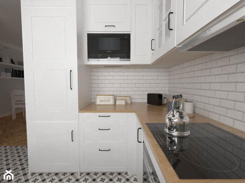 Dom W Zabudowie Szeregowej Otwarta Kuchnia W Ksztalcie Litery L