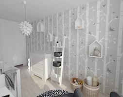 Projekt pokoju dziecięcego - Średni szary pokój dziecka dla chłopca dla dziewczynki dla niemowlaka dla malucha, styl nowoczesny - zdjęcie od white interior design