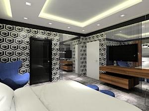 Projekt sypialni z tapicerowanym łóżkiem. - zdjęcie od MKdezere