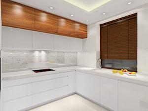 Przytulne mieszkanie - Średnia zamknięta biała kuchnia w kształcie litery u, styl nowoczesny - zdjęcie od MKdezere