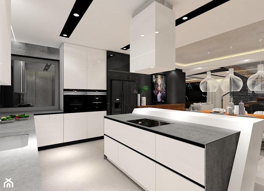 Projekt nowoczesnej kuchni. - zdjęcie od MKdezere - homebook