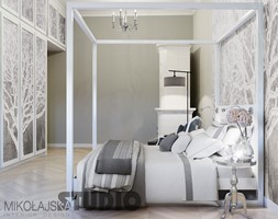 łóżko z baldachimem - projekt - zdjęcie od MIKOŁAJSKAstudio