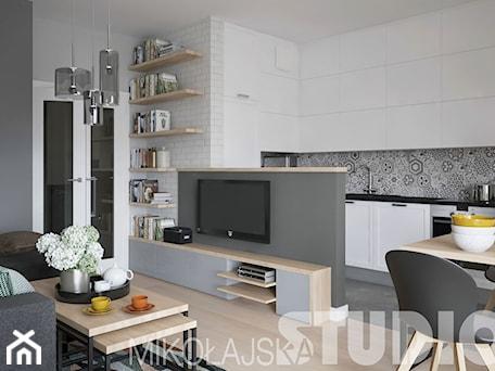 Aranżacje wnętrz - Salon: loft-style-apartment - MIKOŁAJSKAstudio. Przeglądaj, dodawaj i zapisuj najlepsze zdjęcia, pomysły i inspiracje designerskie. W bazie mamy już prawie milion fotografii!