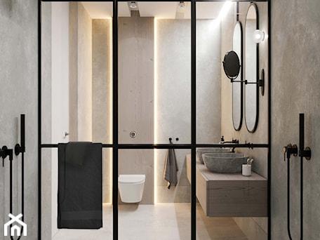 Aranżacje wnętrz - Łazienka: duży prysznic - MIKOŁAJSKAstudio. Przeglądaj, dodawaj i zapisuj najlepsze zdjęcia, pomysły i inspiracje designerskie. W bazie mamy już prawie milion fotografii!
