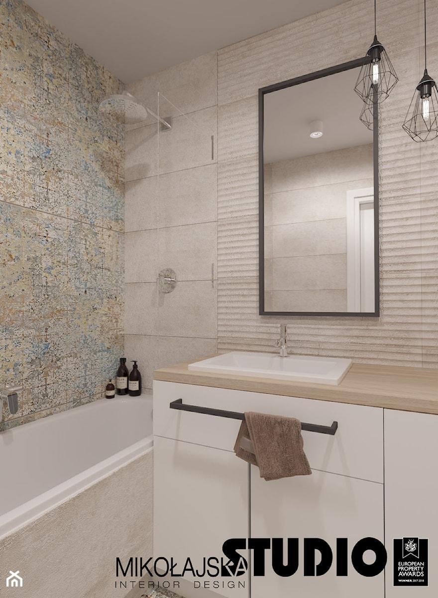 beżowa łazienka - zdjęcie od MIKOŁAJSKAstudio