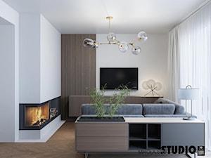 salon z kominkiem - zdjęcie od MIKOŁAJSKAstudio