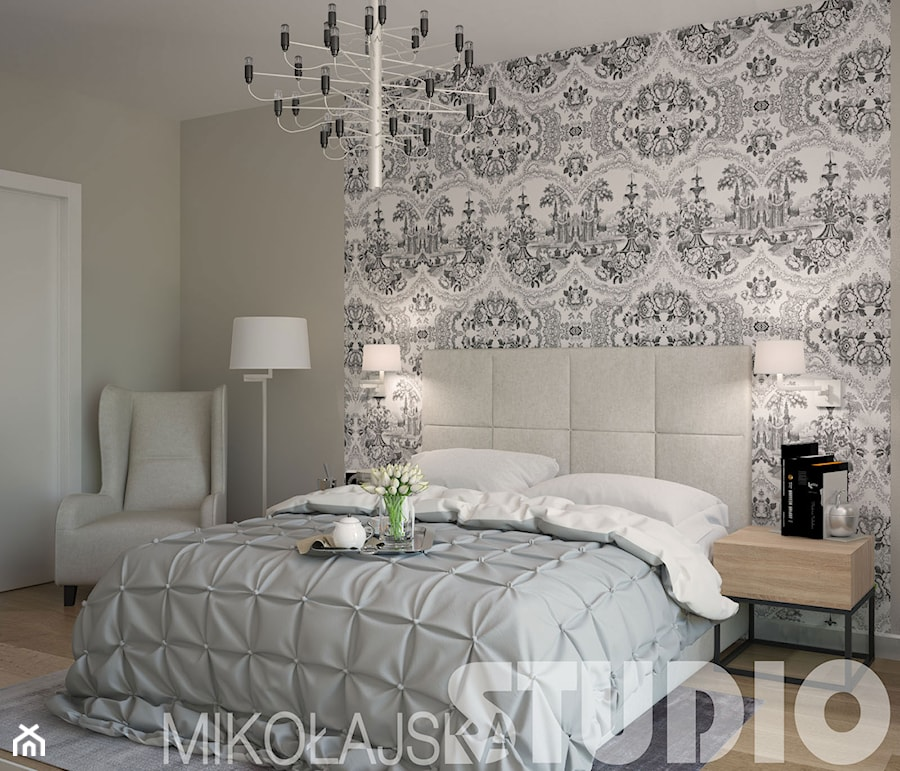 sypialnia-elegancka, klasyczna - zdjęcie od ...