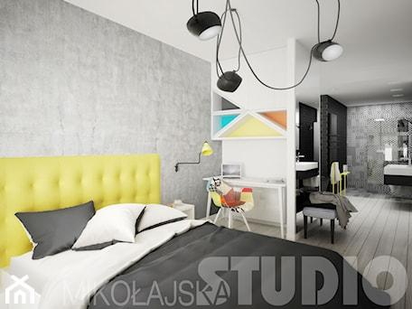 Aranżacje wnętrz - Sypialnia: sypialnia-dobry design - MIKOŁAJSKAstudio. Przeglądaj, dodawaj i zapisuj najlepsze zdjęcia, pomysły i inspiracje designerskie. W bazie mamy już prawie milion fotografii!