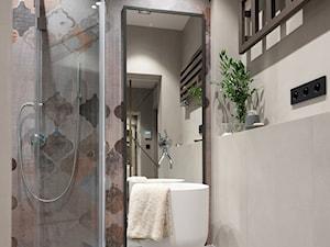 DOM W WIELICZCE - zdjęcia - Mała szara kolorowa łazienka bez okna, styl nowoczesny - zdjęcie od MIKOŁAJSKAstudio