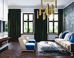 Salon z kolorowymi akcentami - zdjęcie od MIKOŁAJSKAstudio