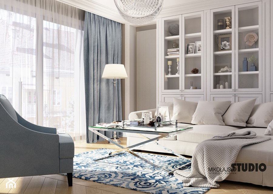 komfortowy salon - zdjęcie od MIKOŁAJSKAstudio