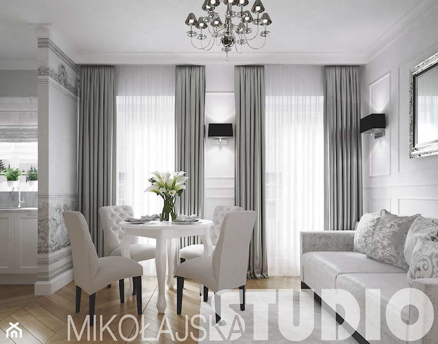 glamour style apartment zdj cie od miko ajskastudio homebook. Black Bedroom Furniture Sets. Home Design Ideas