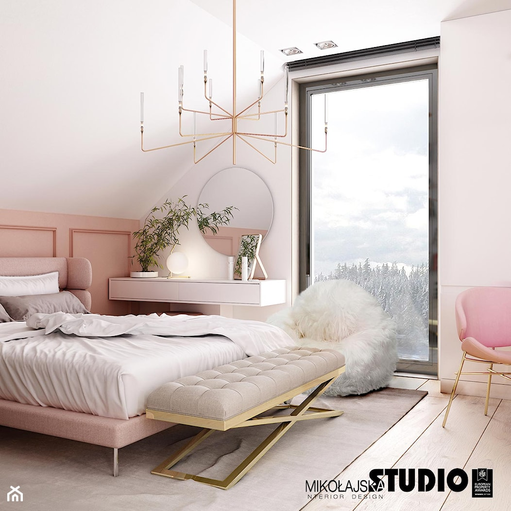 sypialnia z widokiem na góry - zdjęcie od MIKOŁAJSKAstudio - Homebook