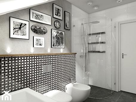 Aranżacje wnętrz - Łazienka: Łazienka w stylu eklektycznym - MIKOŁAJSKAstudio. Przeglądaj, dodawaj i zapisuj najlepsze zdjęcia, pomysły i inspiracje designerskie. W bazie mamy już prawie milion fotografii!