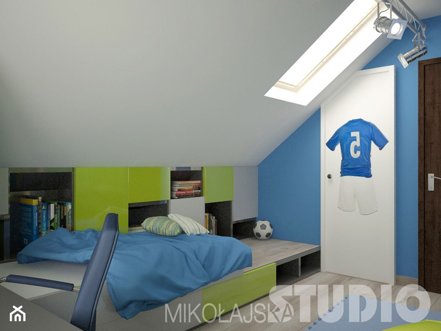 nowoczesny pok j dla ch opca zdj cie od miko ajskastudio. Black Bedroom Furniture Sets. Home Design Ideas
