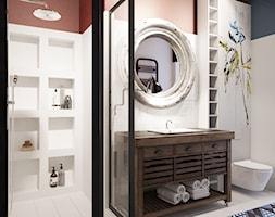wiejska łazienka w odważnych kolorach - zdjęcie od MIKOŁAJSKAstudio