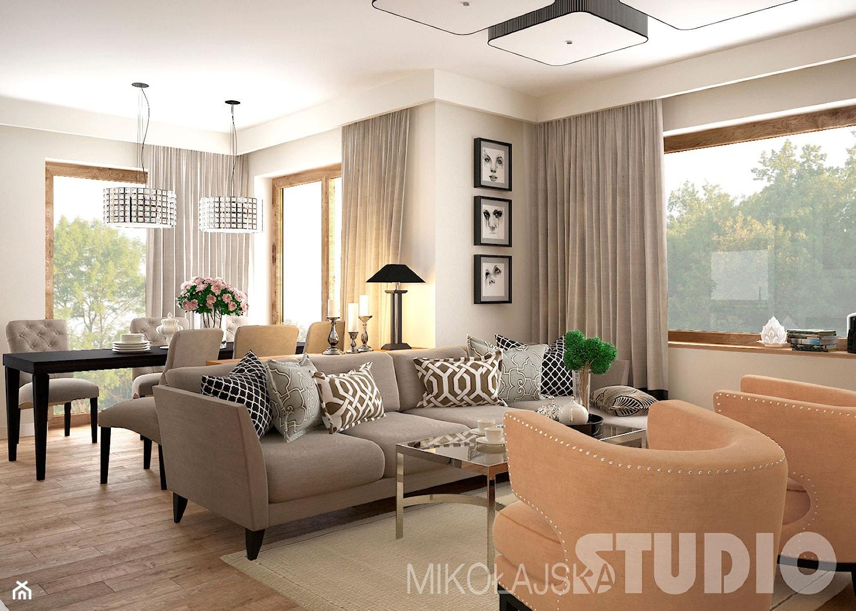 Salon w stylu eklektycznym - zdjęcie od MIKOŁAJSKAstudio - Homebook