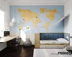 niebieski pokój dziecięcy - zdjęcie od MIKOŁAJSKAstudio