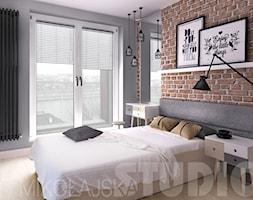 concrete-timber-brick-bedroom - zdjęcie od MIKOŁAJSKAstudio - Homebook