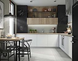 biała kuchnia, czarne akcenty - zdjęcie od MIKOŁAJSKAstudio