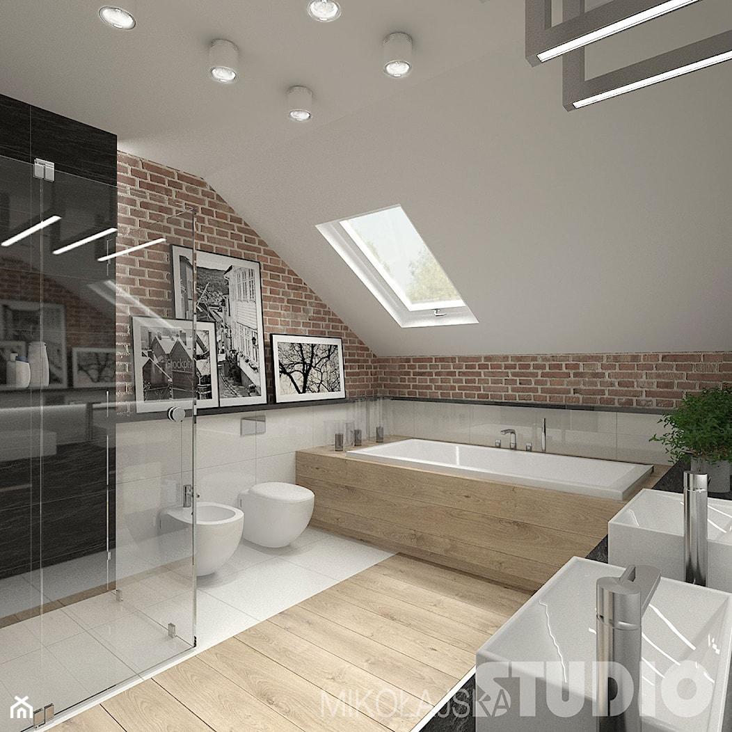 Łazienka w stylu skandynawskim - zdjęcie od MIKOŁAJSKAstudio - Homebook