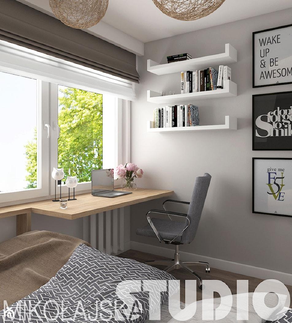 nowoczesna sypialnia w bloku - zdjęcie od MIKOŁAJSKAstudio - Homebook