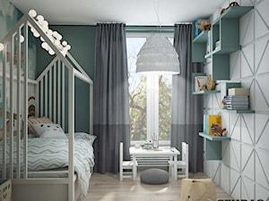 pokój dziecięcy-geometryczny motyw na ścianie - zdjęcie od MIKOŁAJSKAstudio