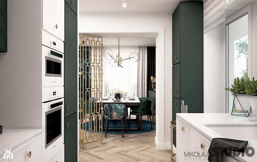 jasne mieszkanie-mosiężne detale - zdjęcie od MIKOŁAJSKAstudio