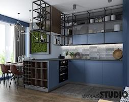 niebieska kuchnia - zdjęcie od MIKOŁAJSKAstudio