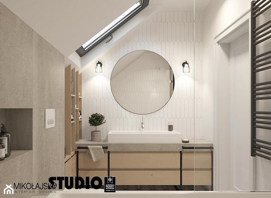 kącik z umywalką-łazienka - zdjęcie od MIKOŁAJSKAstudio