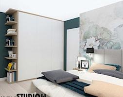 sypialnia w kojących barwach - zdjęcie od MIKOŁAJSKAstudio