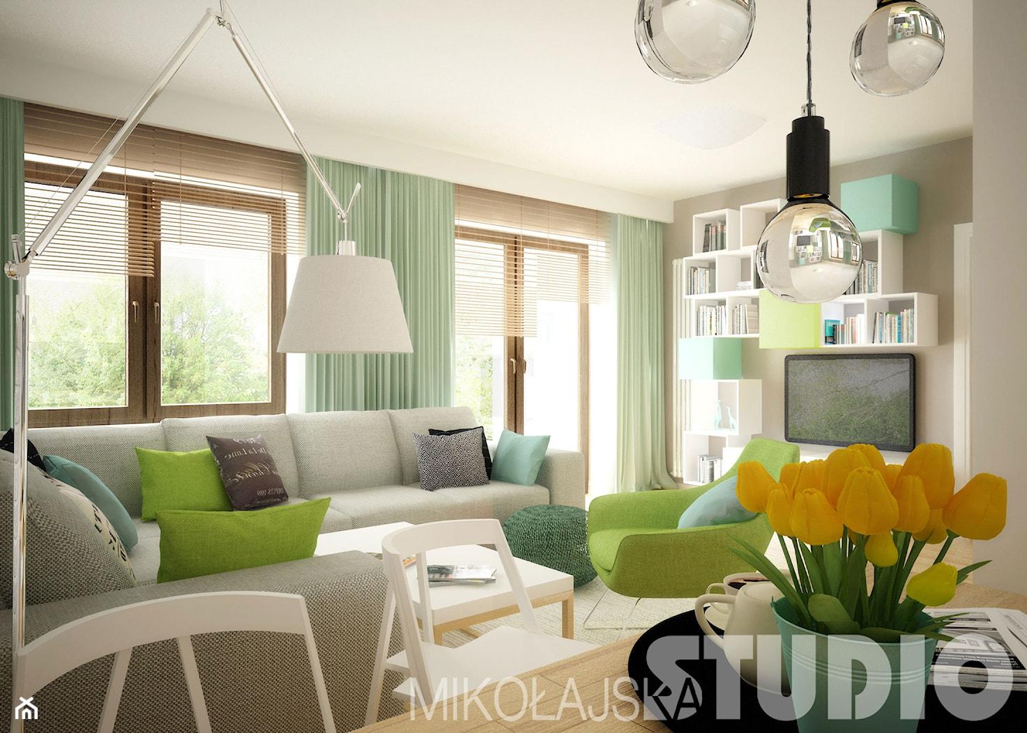 Salon w jasnych koplorach - zdjęcie od MIKOŁAJSKAstudio - Homebook