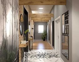 Apartament na strychu - Hol / przedpokój, styl industrialny - zdjęcie od MIKOŁAJSKAstudio - Homebook
