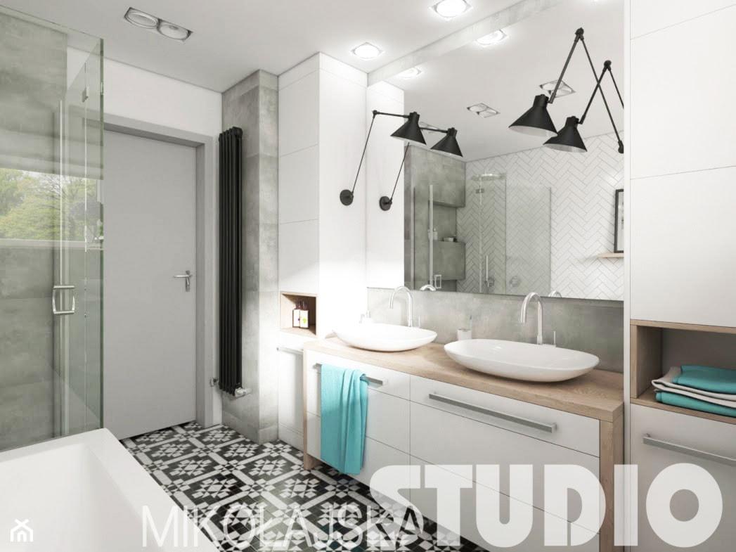 świetlista łazienka - zdjęcie od MIKOŁAJSKAstudio - Homebook