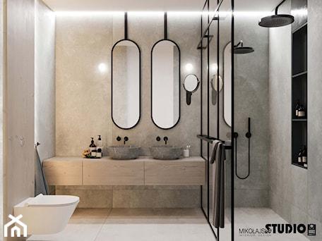 Aranżacje wnętrz - Łazienka: współczesna łazienka - MIKOŁAJSKAstudio. Przeglądaj, dodawaj i zapisuj najlepsze zdjęcia, pomysły i inspiracje designerskie. W bazie mamy już prawie milion fotografii!