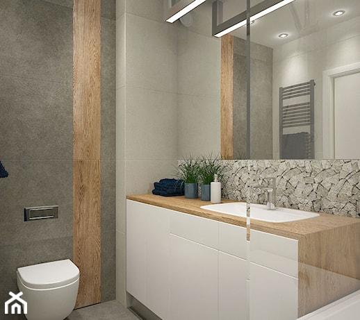 łazienka Z Niebieskim Akcentem Zdjęcie Od Mikołajskastudio