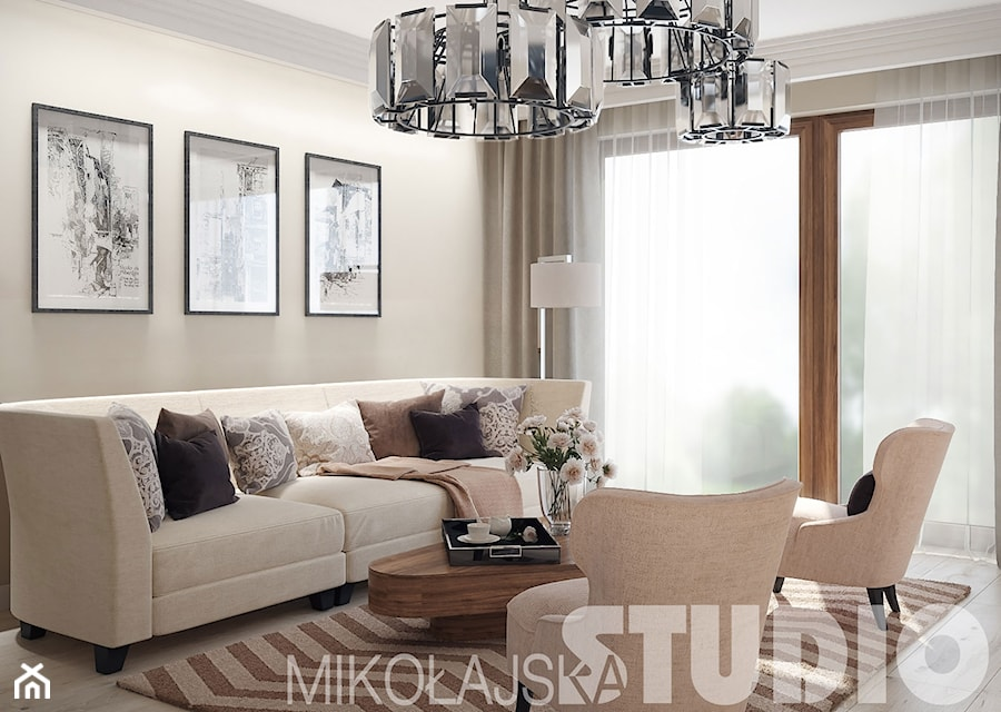 New york style living room zdj cie od miko ajskastudio for New style drawing room