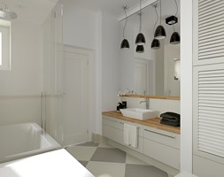 Mieszkanie w budynku z lat 40-tych - Średnia łazienka, styl vintage - zdjęcie od MIKOŁAJSKAstudio